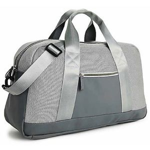 DSW Gray/Silver Neoprene Duffel Bag